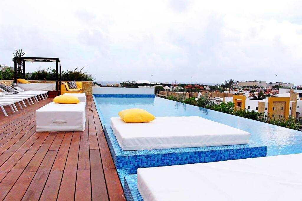 Playa del carmen penthouse for sale sun lounge bar