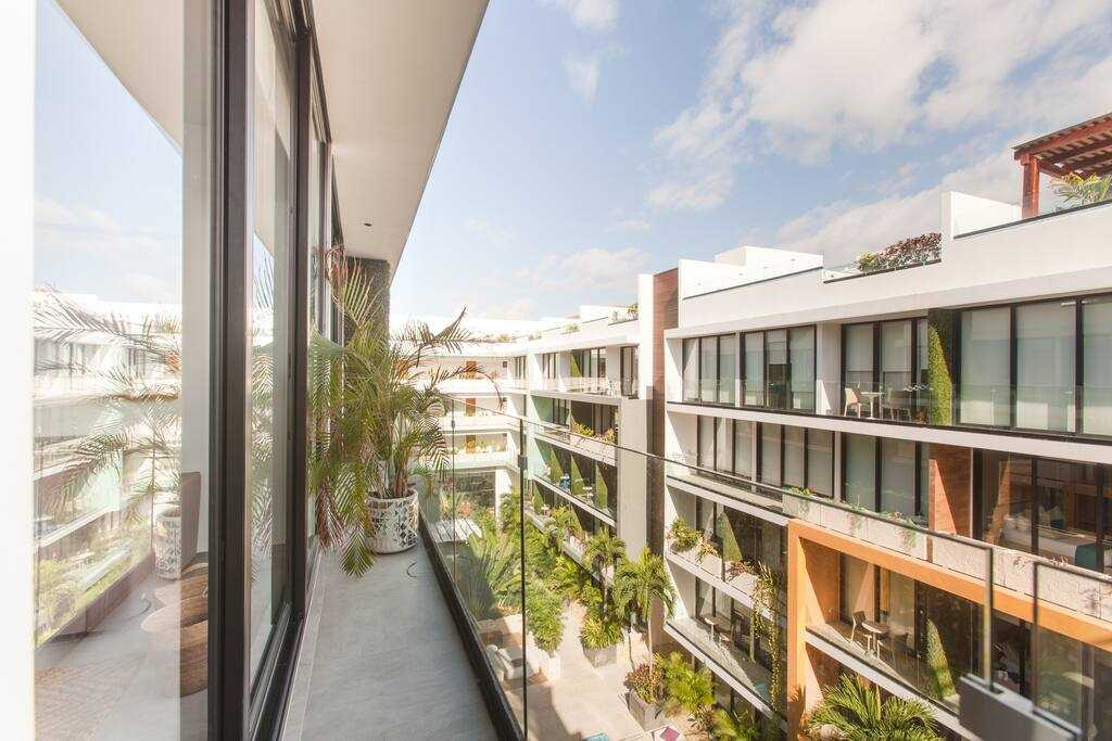 Playa del carmen penthouse for sale view balcony