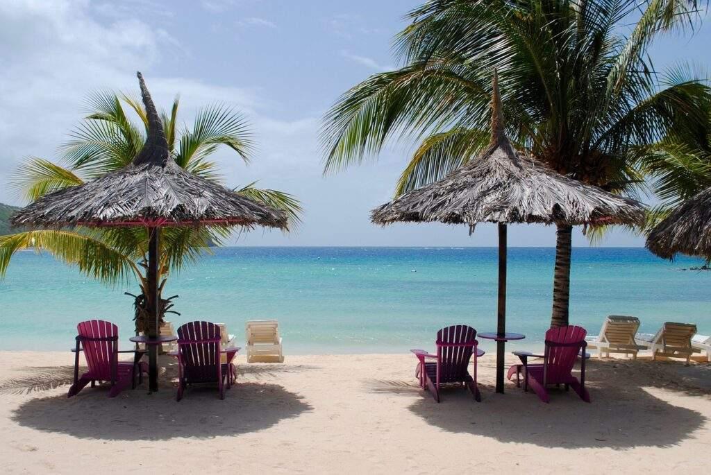 caribbean beach, caribbean sea, tropical beach