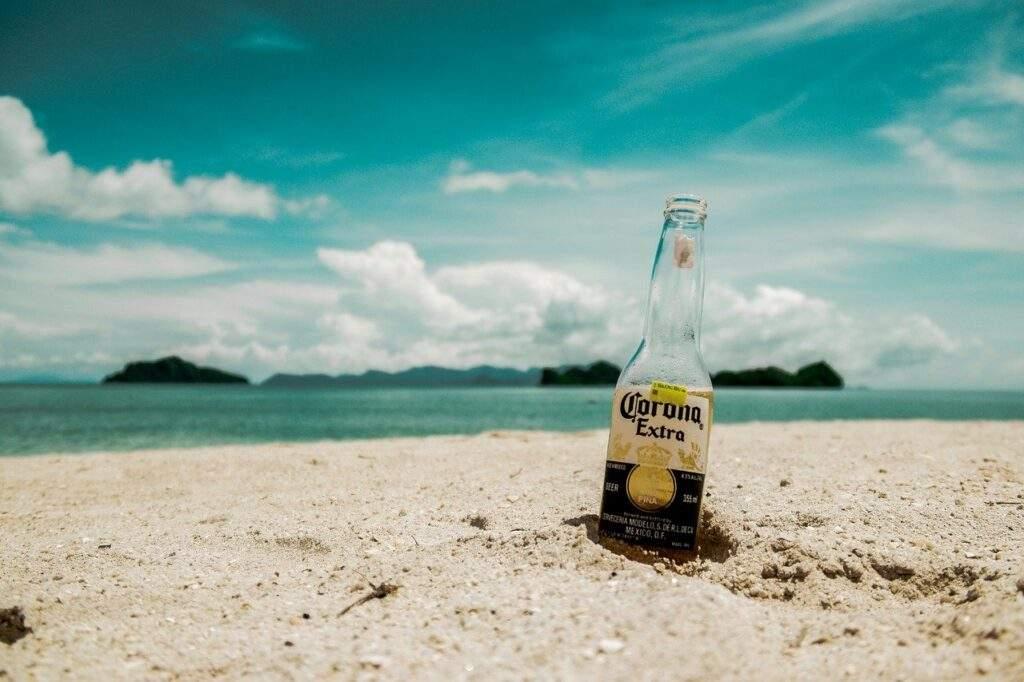 beach, beer, bottle