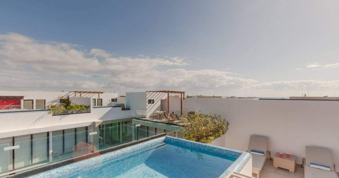 Playa del carmen penthouse for sale rooftop pool