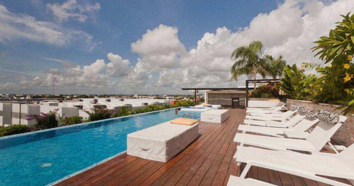 Playa del carmen penthouse for sale rooftop sun area