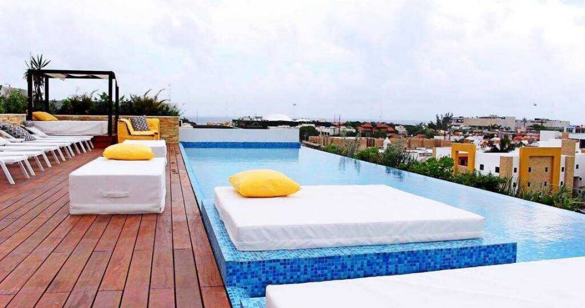 Playa del carmen penthouse for sale sun lounge bar